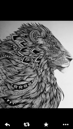 What is Zentangle? One of the beauties of Zentangle Art is it requires basically no skill or excessive effort. Instructions on how to draw Zentangle Patterns step by step:… Lion Tattoo Design, Lion Design, Tattoo Designs, Tribal Lion Tattoo, Lion Chest Tattoo, Tattoo Elephant, Design Tattoos, Tattoo Maori, Maori Art