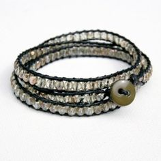 Make your own beaded wrap bracelet with this tutorial - it's easier than you think