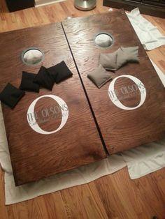 Family Name Hunting Buck Deer Cornhole Board Vinyl Decal Sticker - Custom vinyl decals for wood