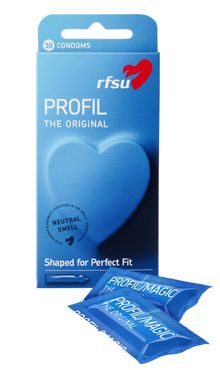 Vår mest populære og bestselgende kondom. RFSU Profil er originalen. Kondomer med innsvinget tupp for bedre passform og økt følsomhet.