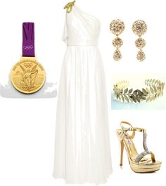 """Gilded Goddess (A)"" by mollylsanders on Polyvore"