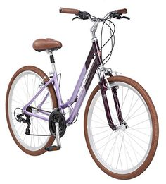 "Schwinn Capitol Women's Hybrid Bicycle Lavender Wheel, 16 ""/Small Frame Size For Sale Mountain Bike Accessories, Mountain Bike Shoes, Cool Bike Accessories, Mountain Bicycle, Mountain Biking, Full Suspension Mountain Bike, Beach Cruiser Bikes, Buy Bike, Cool Bikes"