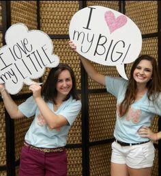Big lil reveal sorority speak bubbles phi mu nicholls state university photo props