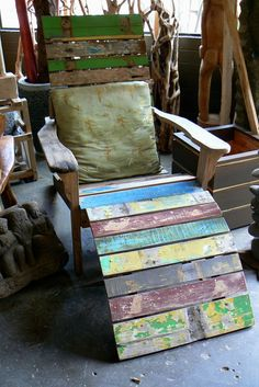 recycled wood adirondack chair