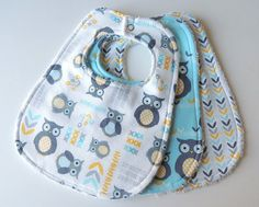 Etsy listing at https://www.etsy.com/listing/174826270/baby-bibs-gender-neutral-baby-bibs-owl