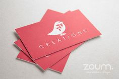 500 Ultra-thick Business Cards on uncoated stock with by ZOUM
