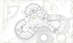 Image 11 of 22 from gallery of Hotel The Fontenay / Störmer Murphy and Partners. Photograph by Rainer Taepper Architecture Concept Drawings, Architecture Student, Architecture Plan, Architecture Diagrams, Architecture Portfolio, Kindergarten Interior, Circular Buildings, Circle House, Youth Center