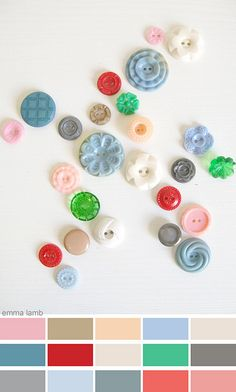 colour palette : button stash... by emma lamb (a wee bit behind), via Flickr