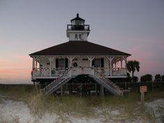 Christmas at Gasparilla lighthouse  Florida