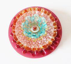 RESERVED for Mary Lynn, Custom Flower Repurposed Glass Plate Flower, Yard Art ................................................................................................... by TheBlueRam   Etsy