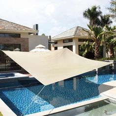 18' x18' Deluxe Square Sun Shade Sail UV Top Outdoor Canopy Patio Lawn Beige New | eBay