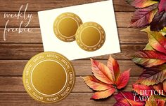 Download a set of free Thanksgiving labels over here: http://www.thedutchladydesigns.com/2015/11/free-thanksgiving-clipart.html