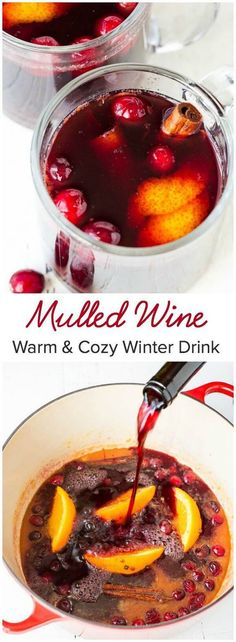 Perfect mulled wine recipe with simple 7 ingredients and make-ahead tips. Spice up your holiday with this warm & cozy winter drink. Drinks Mulled Wine - Perfect Holiday Party Drink ~Sweet & Savory by Shinee Winter Drinks, Holiday Drinks, Christmas Drinks, Party Drinks, Winter Food, Holiday Recipes, Thanksgiving Drinks, Holiday Parties, Christmas Holidays