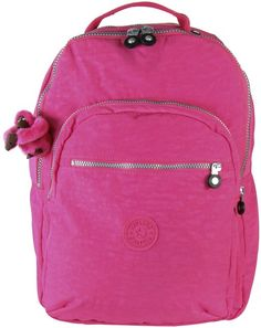 Kipling Seoul Backpack with Laptop Protection - Hydrangea Pink