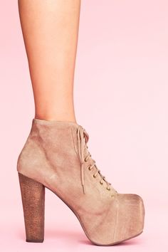 Lita Platform Boot - Taupe Suede. Um, need. Need to set up shoe fund.