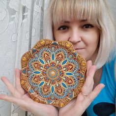 wall wood mandala painting, gold mandala, wall plate collectible, mandala protection covid-19, mandala health, wall mandala art