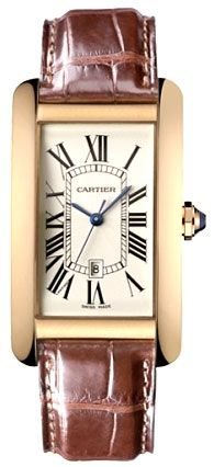 Cartier Tank Americaine 18kt Rose Gold Ladies Watch W2609156
