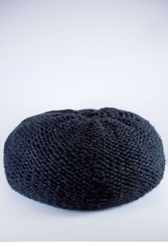 Knitted Pouf - Grey