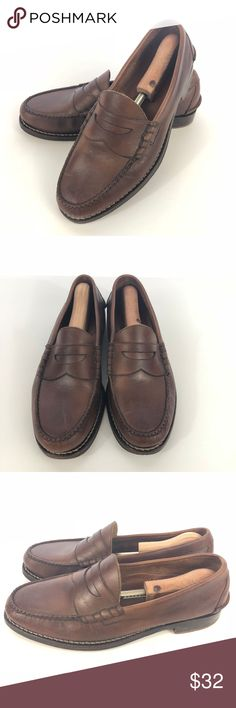 Johnston & Murphy Mens Loafer Sz 10 Brown Leather
