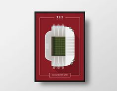 """다음 @Behance 프로젝트 확인: """"Old Trafford Illustration""""…"""
