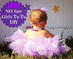 Easy No Sew Girl's TuTu DIY - Only $5 #TuTu #Frugal #NoSew
