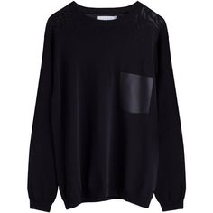 Weekday ❤ liked on Polyvore featuring tops, sweaters, black, jumper, black jumper, black sweater and black top