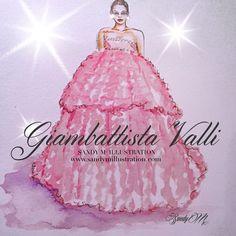 #GiambattistaValli #granmys #grammys2015 by #sandym #sandymillustration #fashion #fashionillustration #illustration