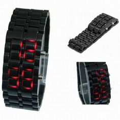 More Color Choices Unisex Bracelet Type LED Movement Wrist Watch Watches