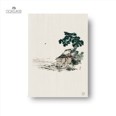 Lonely House Bairei is a remastered edition of the original art ukiyo-e woodblock illustrations Bairei Gakan. Created with many details and soft delicate lines, this is a true masterpiece by the Kōno Bairei, who was well-known for his Japanese Kacho-ga illustrations, often depicted animals and flowers. It's elegant and calm representation goes well with most settings. This art print is created with elements from Cottage (original 1913 edition) by Kōno Bairei(1844-1895). Lonely, Original Art, Delicate, House, Japanese, Art Prints, The Originals, Flowers, Cottage