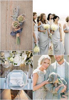 dusty blue and grey wedding inspiration