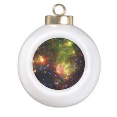 Dusty death of massive star Ceramic Ball Christmas Ornament