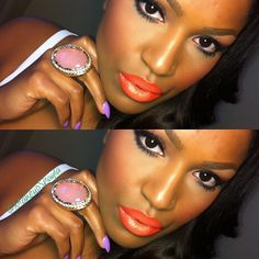 #ShareIG Bright Lip kinda day...⚡Mac morange lipstick with lime crime New Yolk City lipstick in the center. #ilovemaciggirls #limecrime #newyolkcity #morange #lipstick #ilovemacgirls #mac #maccosmetics #makeup #mua