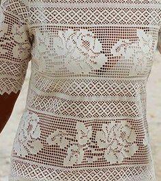 Утончённость и шик филе платье крючок 3