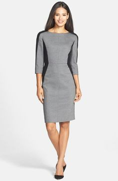 been looking for a long-sleeve sheath dress like this for the colder months... and this one is super slimming AND 40% off right now to boot!