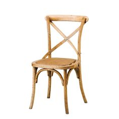 Provincial Cross Back Chair Oak - Chairs & Barstools - Dining