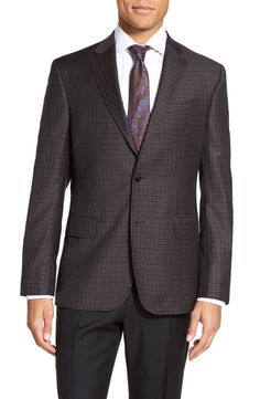 Ted Baker London Ted Baker London Trim Fit Check Wool Sport Coat available at #Nordstrom