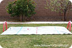 #DIY Water knee hockey rink!