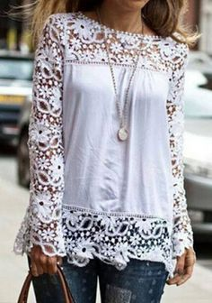 White Lace T-shirt ~ Would look amazing with some great leggings! Find awesome cute leggings, skirts, capris and maxis at lacybug.mybuskins.com