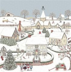 Christmas » Snowy Village - Pack of 8 » Snowy Village - Pack of 8 - Sally Swannell