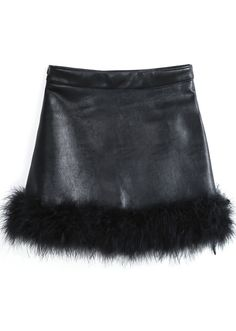 To find out about the Black Faux Fur Trim PU Skirt at SHEIN, part of our latest Skirts ready to shop online today! Pretty Outfits, Cool Outfits, Fashion Outfits, Estilo Dark, Fur Skirt, Lookbook, Character Outfits, Visual Kei, Mode Style