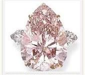 The Pink Sunrise is a fancy pink, diamond, with a design similar to the Centenary Diamond (heart shape) modified by famed diamond cutter Gabi Tolkowsky and his team (who also the cutter of the largest diamond in the world, the Golden Jubilee Diamond)..The Pink Sun rise is 29.79-carat internally flawless (IF).