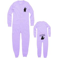 Bear I'll Be Your Huckleberry Infant Union Suit | AnimalWorld.com