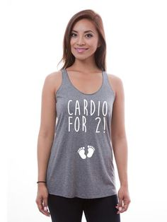 Cardio For 2 Maternity Tank   #shirts #tshirts #tees #custom #slimfit #tanktops #fashion