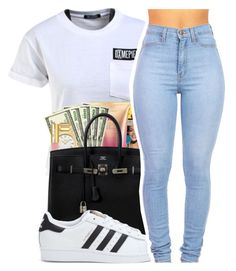 """""""Untitled #405"""" by mindset-on-mindless ❤ liked on Polyvore featuring beauty, Dimepiece and adidas"""