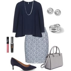 A fashion look from September 2015 featuring Isolde Roth blouses, Studio skirts et Vince Camuto pumps. Browse and shop related looks.