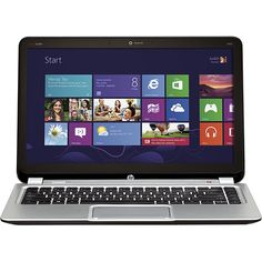 HP Envy Touchsmart Ultrabook  Nice Windows 8 laptop...14 inch touchscreen, backlit keyboard, brushed aluminum finish, 4 GB of RAM (expandable)...pretty nice!