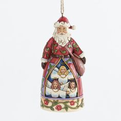 2013 Jim Shore, Hark The Herald Santa Ornament (Pre-Order Item. June Delivery)