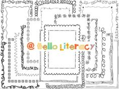 Hello Literacy: How To Download a Font & Get It Workin'! and cute frames