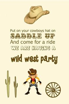 Western Theme Birthday Party #party #birthday #decoration #cakes #favors #themedbirthday #games #printable #quotes #invitation #sayings #birthdaypartyideas #bpartyideas #western