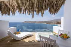 Set on the cliffs above Elia beach, Greco Philia Hotel Boutique offers exclusive accommodations with magnificent Aegean Sea views in an ultra-relaxing and. Mykonos Hotels, Greece Hotels, Beautiful Villas, Beautiful Hotels, Luxury Villa, Hotel Suites, Viajes